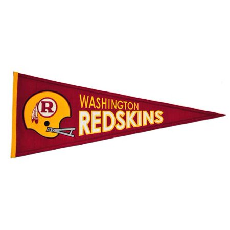 Washington Redskins Official NFL 32 inch x 13 inch Wool Throwback Pennant by Winning Streak