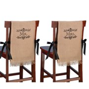 Mr. and Mrs. Burlap Chair Covers