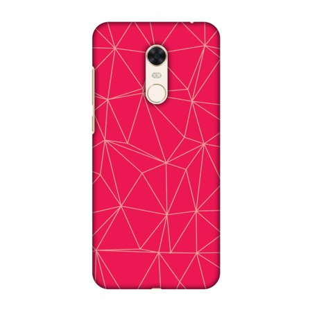 Xiaomi Redmi Note 5 Case - Carbon Fibre Redux Candy Red 14, Hard Plastic Back Cover, Slim Profile Cute Printed Designer Snap on Case with Screen Cleaning Kit