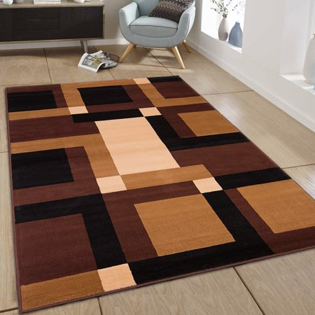 Allstar Brown Area Rug Contemporary Abstract
