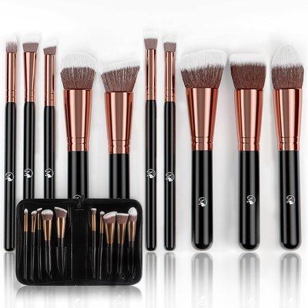 magnifeko professional makeup brushes set with case 10