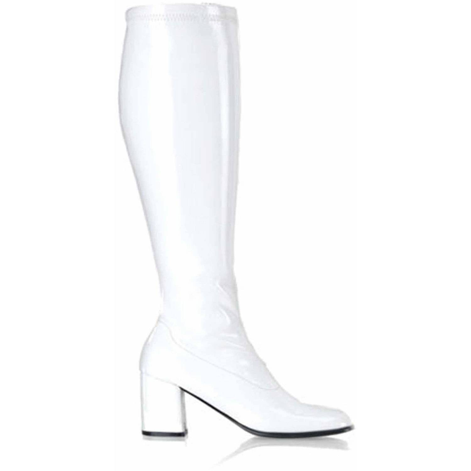 Gogo White Boots Women's Adult Halloween Accessory