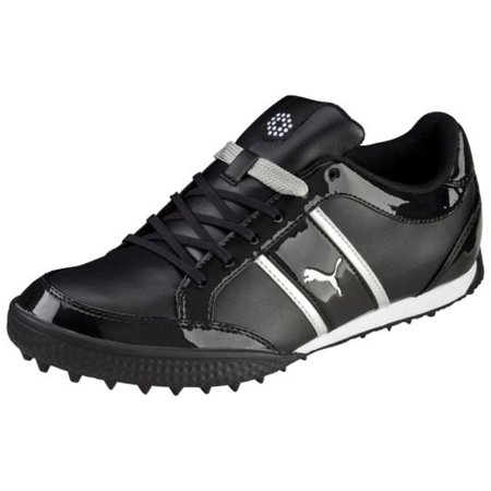 NEW Womens PUMA Monolite Cat Spikeless Golf Shoes Black   Puma Silver Sz  9.5 M - Walmart.com 2efed19de