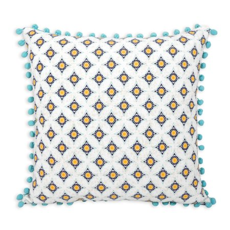 Better Homes and Gardens Block Print Decorative Throw Pillow, 20