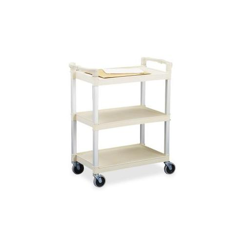 CONTINENTAL MFG CO 3-Shelf Utility Cart, 36x16x31, Beige