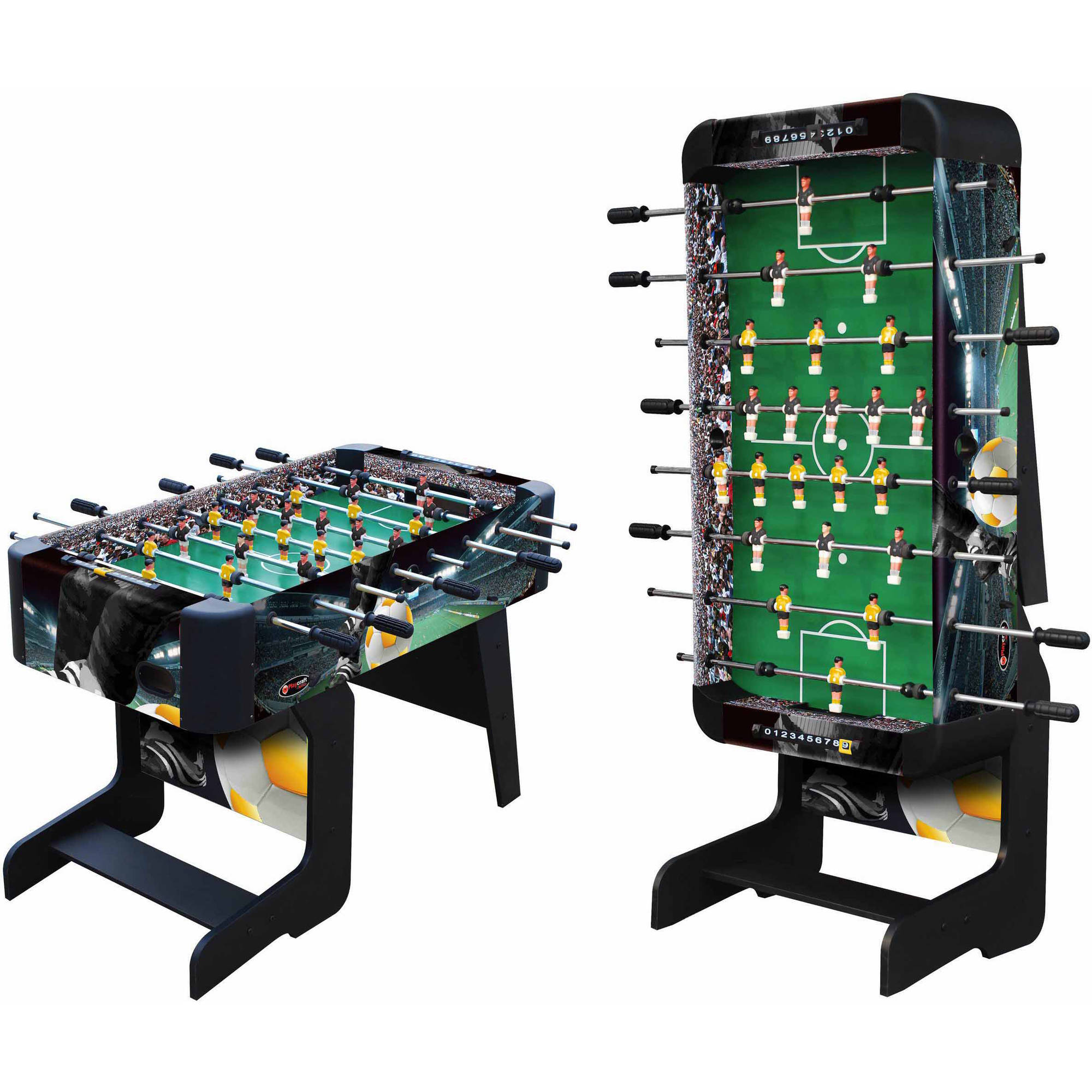 "Playcraft Sport 48"" Foosball Table with Folding Legs, Black"