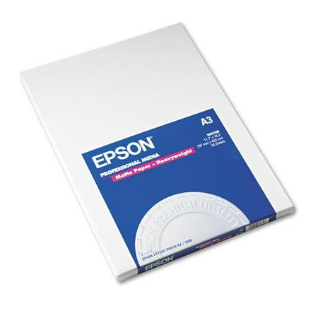Epson Premium Matte Presentation Paper, 45 lbs., 11-3/4 x 16-1/2, 50 Sheets/Pack -EPSS041260 ()