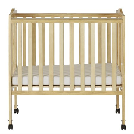 Dream On Me 2-in-1 Lightweight Portable Folding Crib Natural