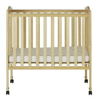 Dream On Me 2-in-1 Lightweight Portable Crib, Natural