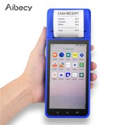 Aibecy POS Receipt Terminal Printer Handheld PDA Smart  Android 8.1 with 5.5 Inch Touchscreen Camera 1D 2D Barcode Scanner Support 3G/WiFi/BT/GPS
