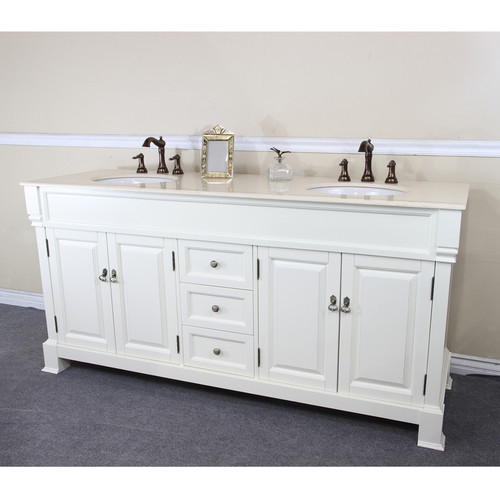 Bellaterra Home 72'' Double Bathroom Vanity Set