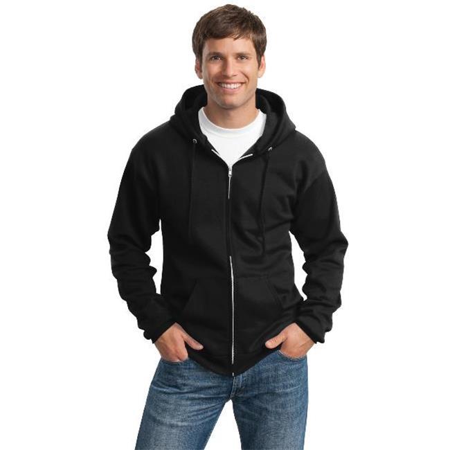 Port & Company® Tall Essential Fleece Full-Zip Hooded Sweatshirt. Pc90zht Jet - image 1 de 1