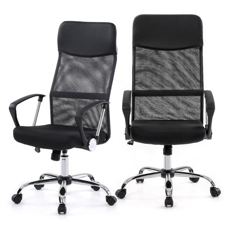 IKAYAA Ergonomic Mesh Adjustable Office Executive Chair Stool High Back Swive