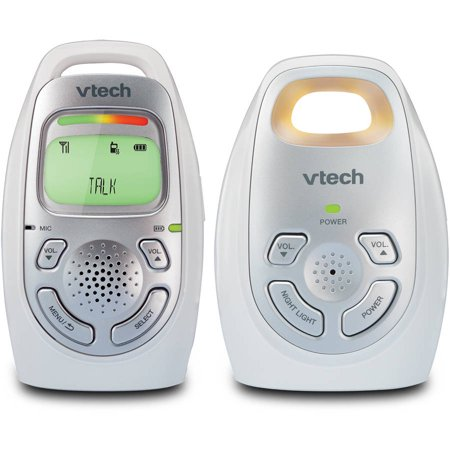 vtech dm223 audio baby monitor dect 6 0 talk back intercom. Black Bedroom Furniture Sets. Home Design Ideas