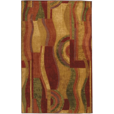 Mohawk Home New Wave Picasso Wine Indoor Area Rug