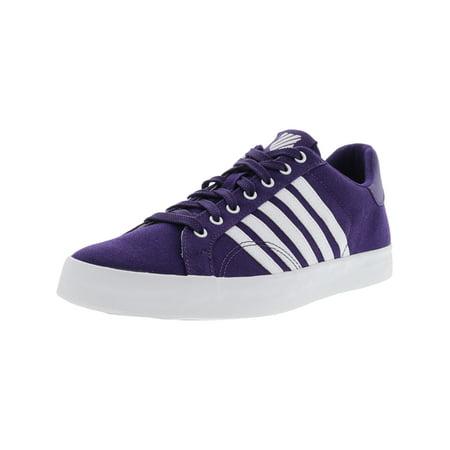 K-Swiss Women's Belmont So T Parachute Purple / White Ankle-High Fabric Fashion Sneaker - 7.5M (Gym Parachute)
