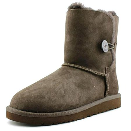 New UGG Womens Baileybutton Chocolate Snow Boots Size 6