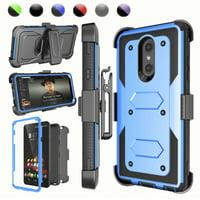 "Njjex Case For 6.2"" LG Stylo 4 / Q Stylo / Stylus 4 / Stylo 4 Plus / Stylus 4 Plus, Kickstand + Holster Belt Clip & Screen Protector [Heavy Duty] Case Cover for LG G Stylo 4 (2018)"