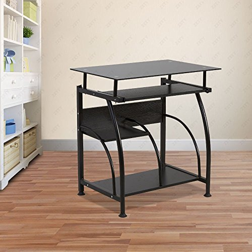 uenjoy home office pc corner computer desk laptop table workstation furniture black