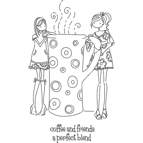 Stamping Bella Cling Rubber Stamp, Uptown Girls Clarissa And Camille