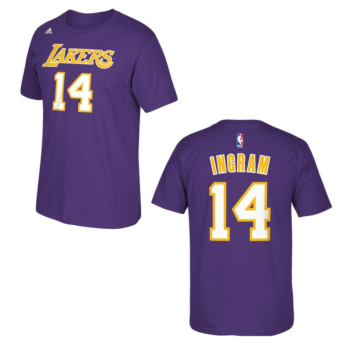 Los Angeles Lakers Brandon Ingram Purple Name and Number T-Shirt