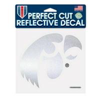 Iowa Hawkeyes Official NCAA 6 inch  x 6 inch  Reflective Die Cut Car Decal by Wincraft