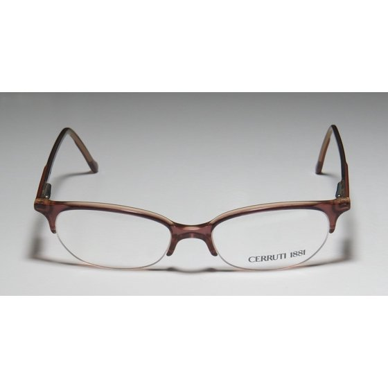 854890897db New Cerruti 1881 By Rodenstock C2203 Mens Womens Designer Half-Rim Brown  Vintage Rare Frame Demo Lenses 49-16-135 Spring Hinges Eyeglasses Eyeglass  Frame ...