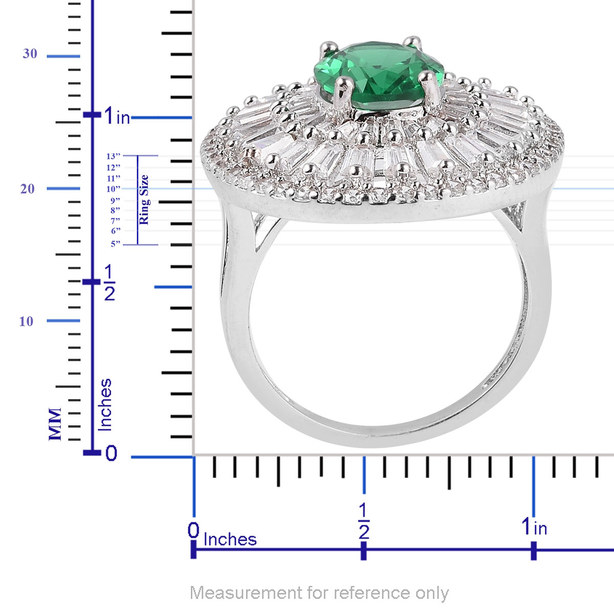 Shop LC Delivering Joy Halo Ring Green /& White Cubic Zirconia CZ Gift Jewelry for Women Ct 6.2