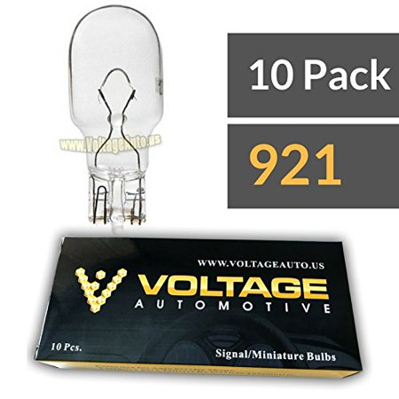 (10 Pack) 921 Bulb For License Plate Light Side Marker Automotive Interior Light Dashboard Dome Light - Voltage Automotive - Standard Replacement