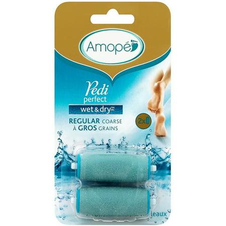 - Amope Pedi Perfect Electronic Foot File Wet Dry Regular Coarse Refills 2 ea (Pack of 3)