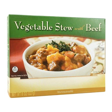 BariatricPal Microwavable Single Serve Protein Entree - Vegetable Stew with (Vegetables Entree Slices)
