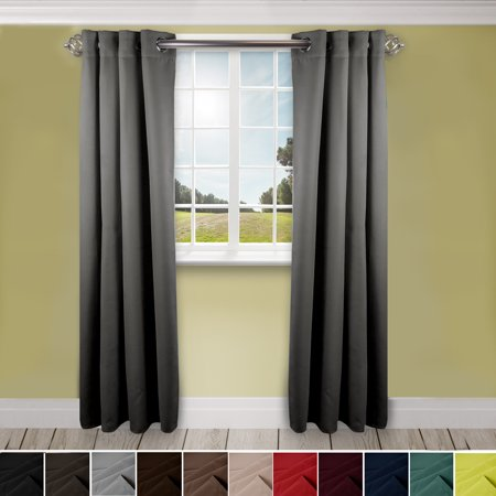 "Domovina Premium Grommet Curtain-Color:Light Grey,Size:96"" x 108"""