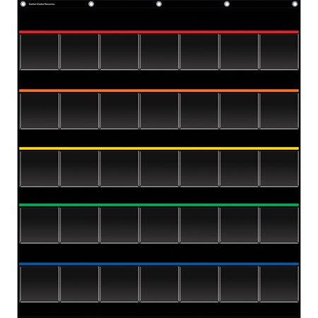 BLACK STORAGE POCKET CHART](Black Pocket Chart)