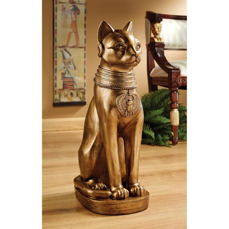 Design Toscano Golden Bastet of Ancient Egypt Statue - Statue Of Gold