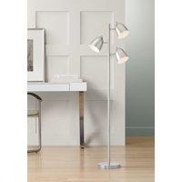 360 Lighting Modern Retro Floor Lamp 3-Light Tree Brushed Nickel Swivel Heads for Living Room Reading Bedroom Office