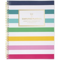 Emily Ley Simplified Happy Stripe Customizable Weekly-Monthly Planner - 2020