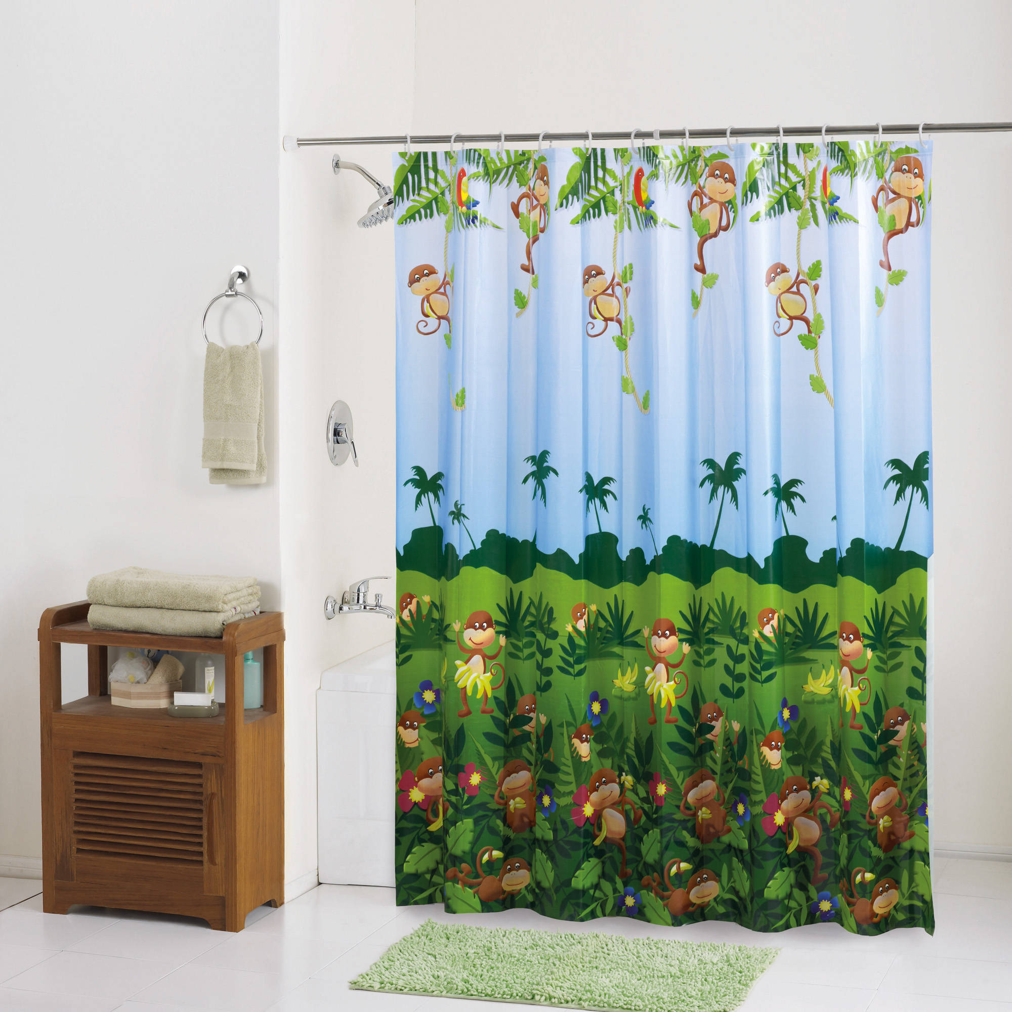 PEVA Shower Curtain, Monkey