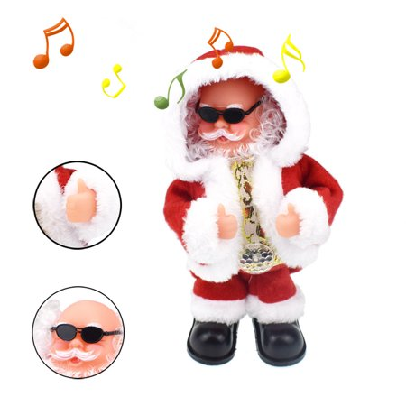 DZT1968 Cool Animated Christmas Singing Christmas Musical Doll Santa Claus Electric Toy (Animated Doll)