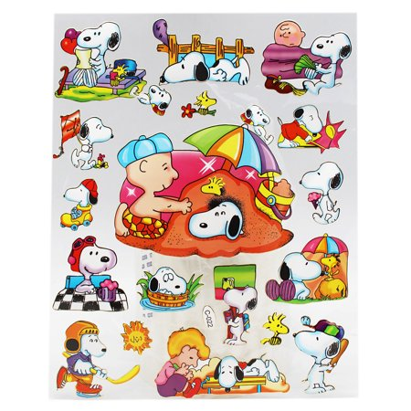 Snoopy Summer (Peanuts Snoopy and Charlie Brown Summertime Fun Sticker Sheet (16)