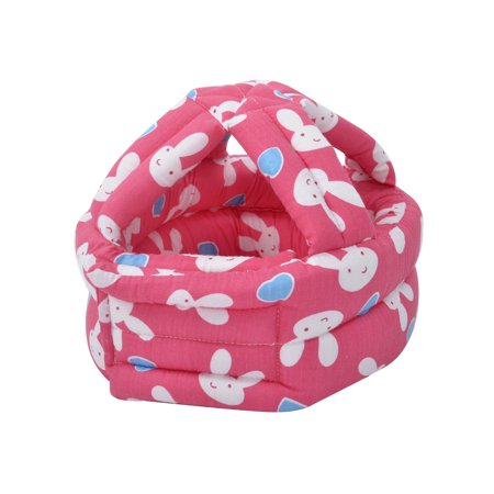 Baby & Infant Toddler No Bumps Safety Cap Helmet Head Cushion, Red Rabbit ()