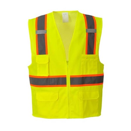 Portwest US372 Medium Jackson Contrast Hi-Visibility Executive Vest, Yellow - Regular - image 1 of 1