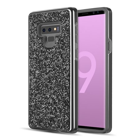 new styles 4cdc0 8edc9 RED SHIELD Samsung Galaxy Note 9 Glitter Bling Case, Slim Fit, Dual Layer  Design with Shock Absorbing TPU [Black]