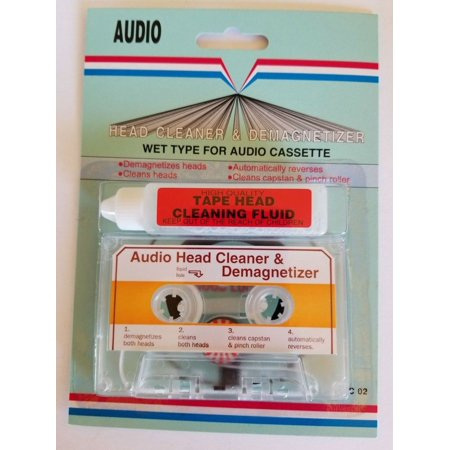 HIGH QUALITY HEAD CLEANER  &  DEMAGNETIZER FOR ALL AUDIO CASSETTE TAPE PLAYERS (Video Head Cleaner Gay)