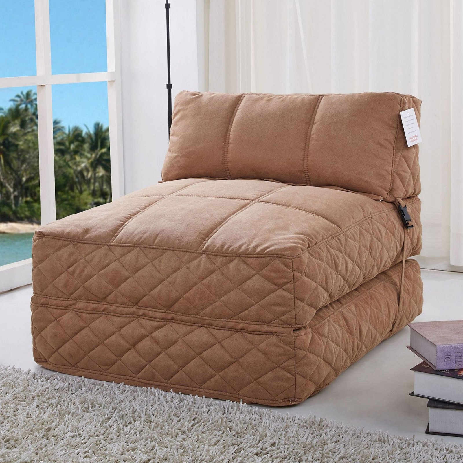 Gold Sparrow Austin Fabric Bean Bag Chair Bed Walmart Com