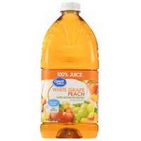 (2 pack) Great Value 100% Juice, White Grape Peach, 64 Fl Oz, 1 Count
