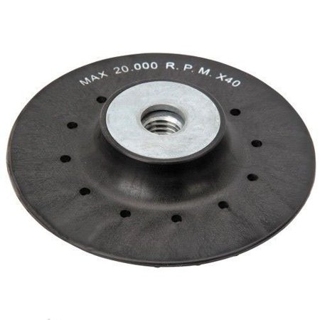"GHP 4.5"" Diameter 20000RPM Raised Ribbed Surface Cast Aluminum Plate Sanding Disc"