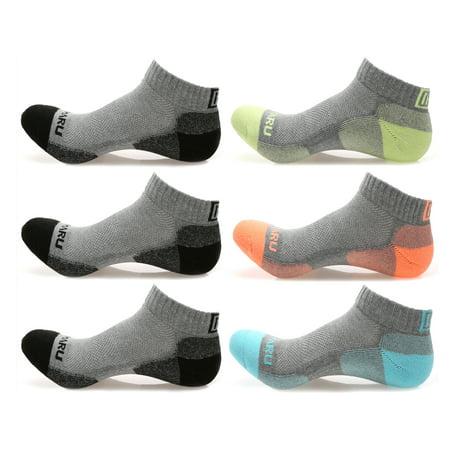 MIRMARU High Performance 6 Pairs Low Cut Athletic Running Cushion Sports Socks for Men & Women