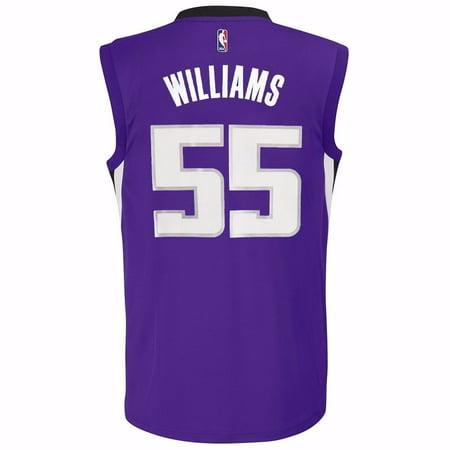 finest selection 6205b 000e7 Jason Williams Saramento Kings NBA Adidas Youth Purple Official Home  Replica Basketball Jersey