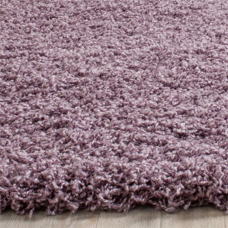 "Safavieh Laguna Shag 5'3"" X 7'6"" Power Loomed Rug in Purple - image 5 de 10"