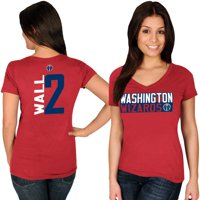 John Wall Washington Wizards Majestic Women's Name & Number V-Neck T-Shirt - Red
